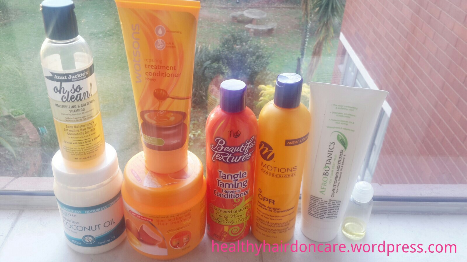 Hair products used for a quick wash day