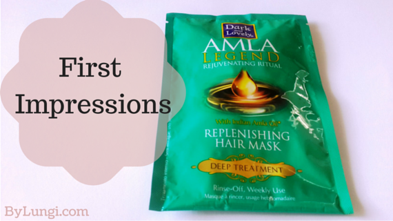 Dark and Lovely Amla Legend Rejuvenating Ritual Replenishing Hair Mask Deep Treatment First Impression and mini review