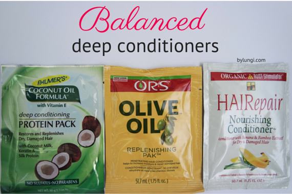 Balanced deep conditioners for natural hair