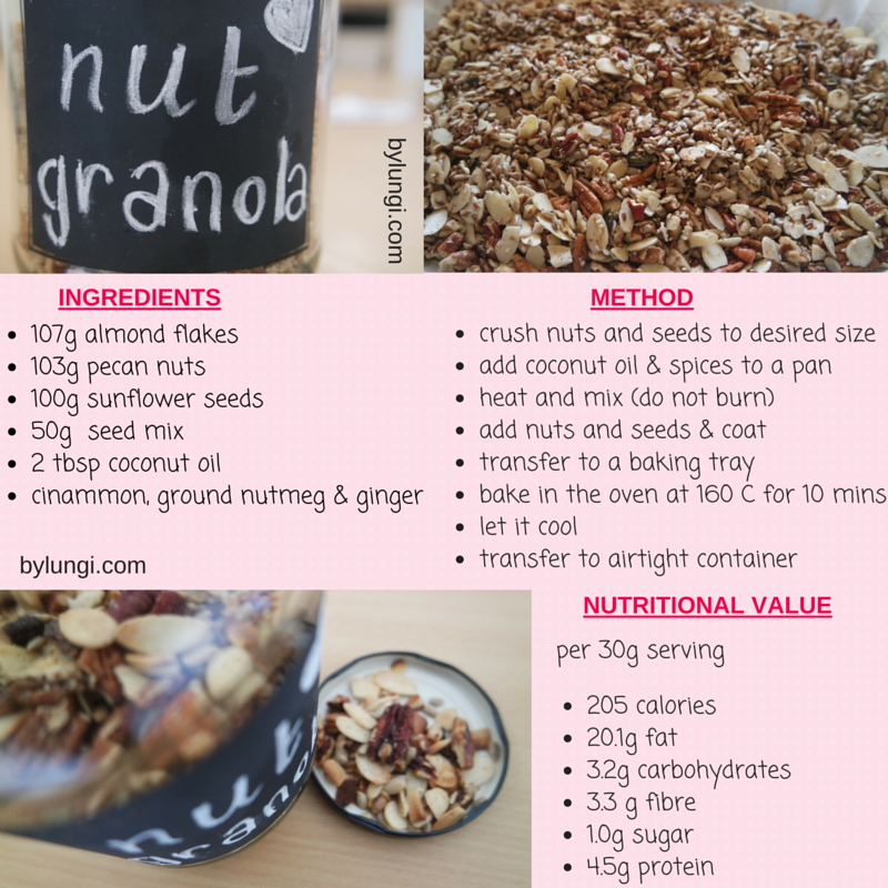 Low carb, real food Nut granola recipe