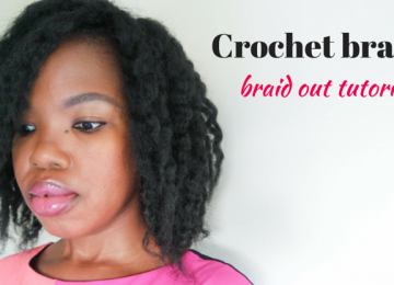 Crochet braids styling braid out tutorial