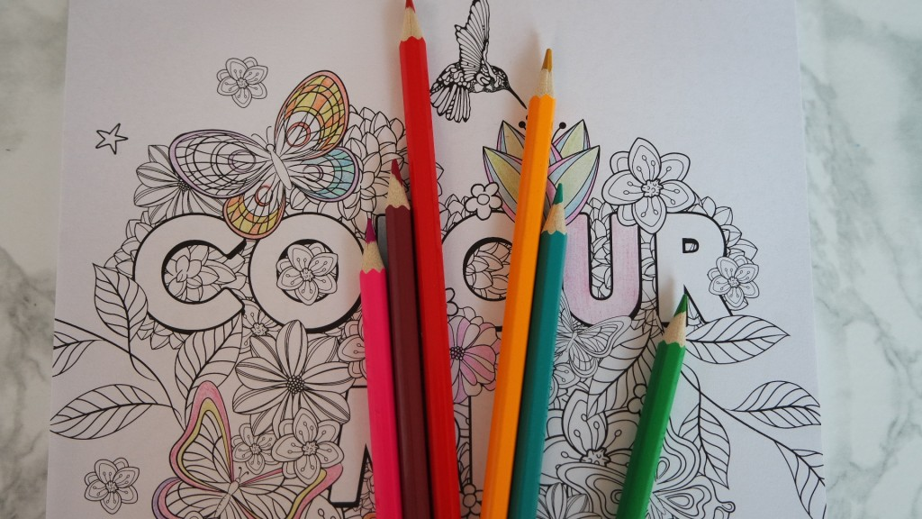 Colouring in book to quieten my mind