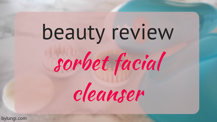 Sorbet facial cleanser
