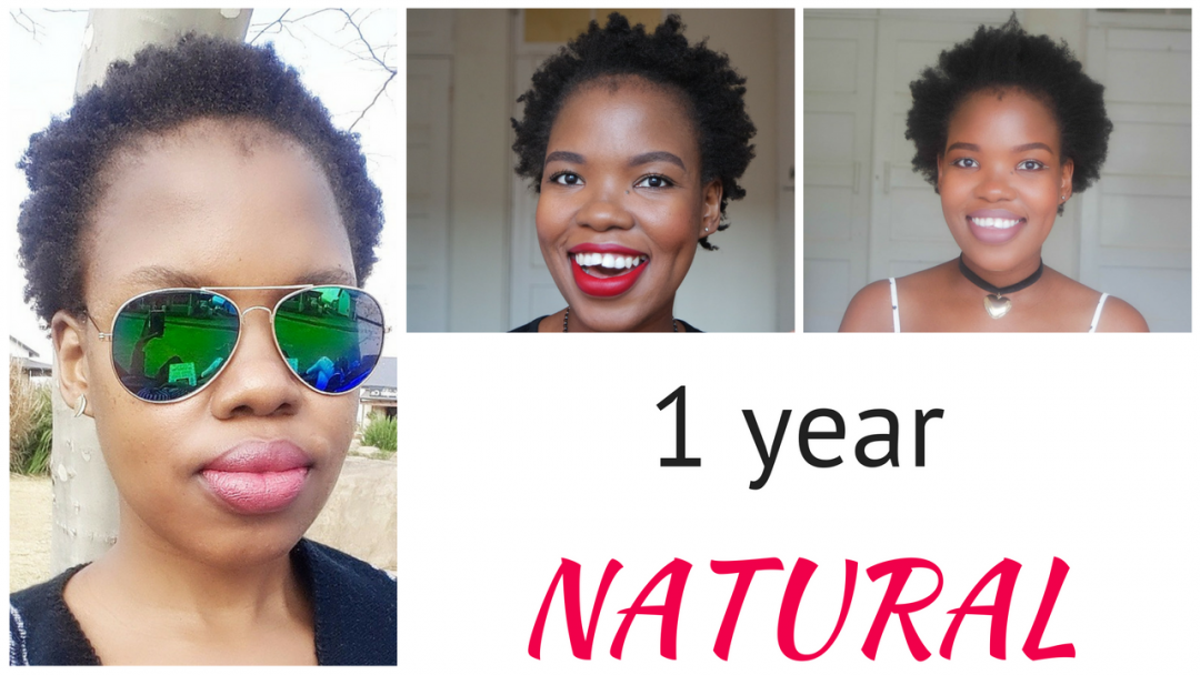 1 year after big chop 4c natural african hair