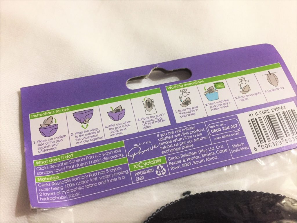 Subz reusable pads washing instructions