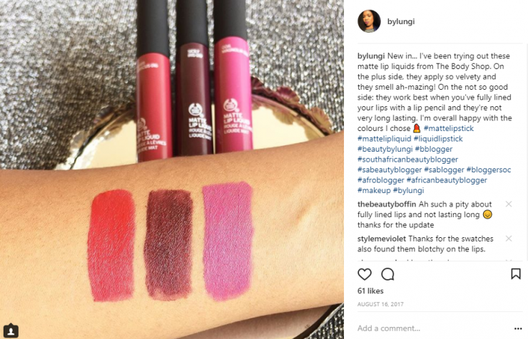 The BodyShop Matte Lip Liquid