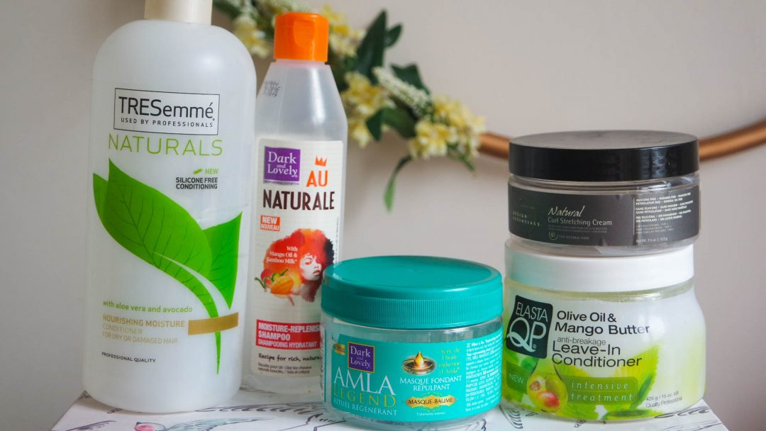 hair product empties
