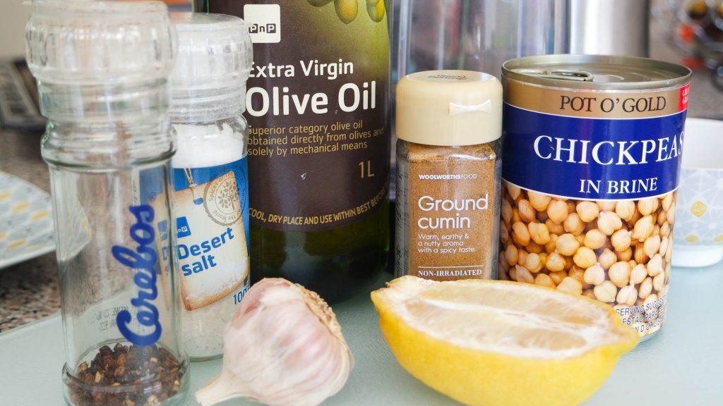 homemade hummus ingredients