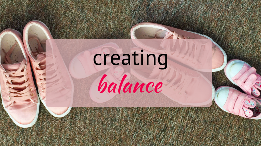 as a working mom and content creator, how do i create balance in my life?