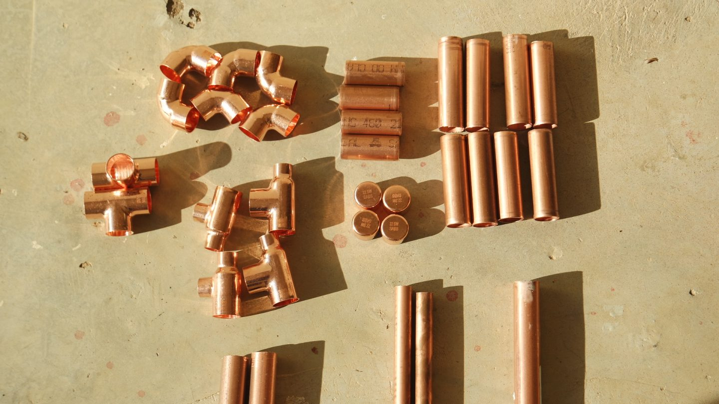 diy copper pipe clothing rack materials needed