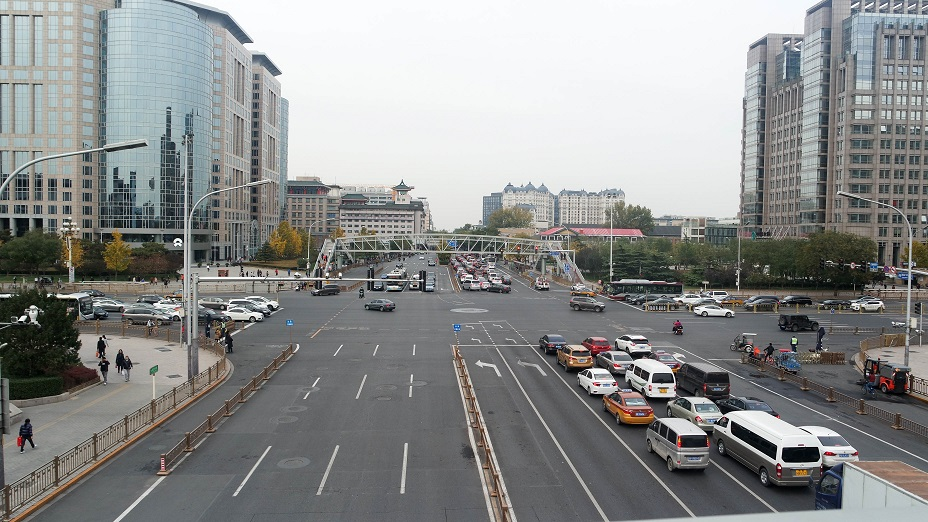 Beijing china intersection