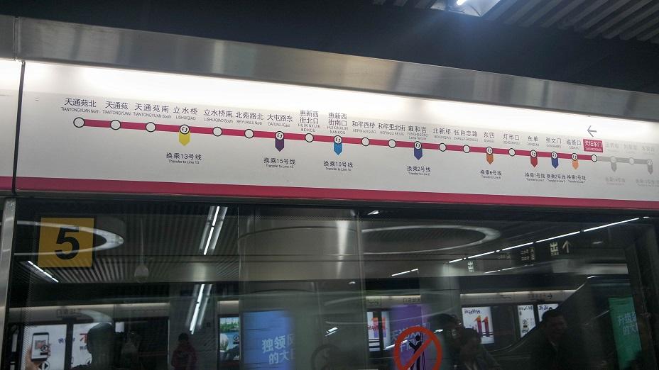 Beijing China subway