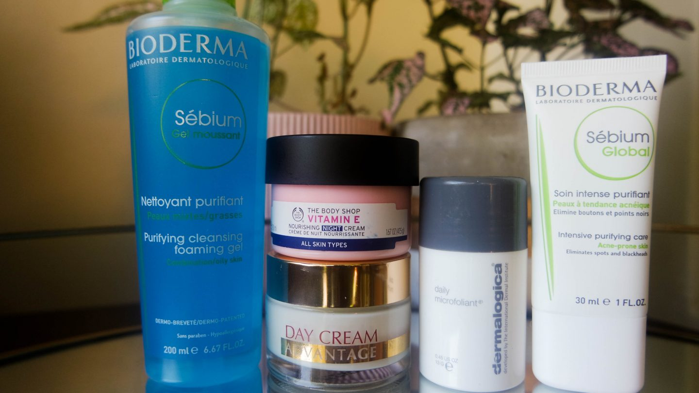 what's in and out of my skincare routine