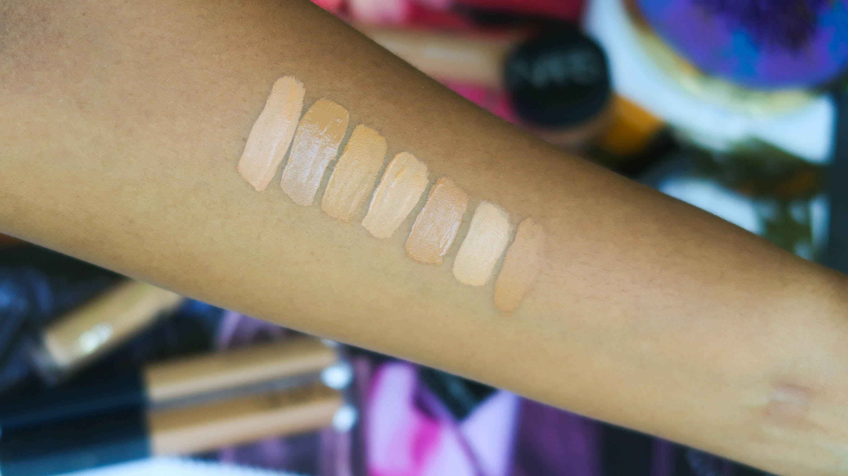 Concealer swatches for dark skin