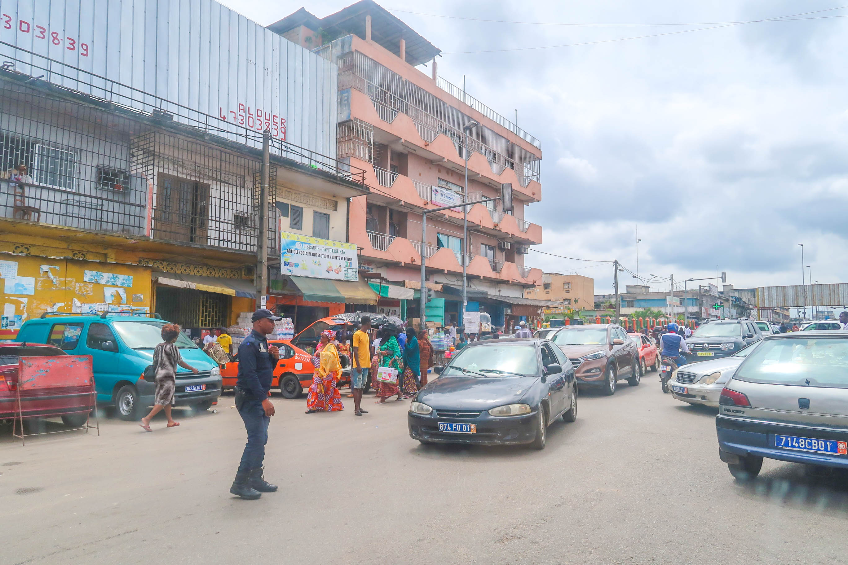 The streets of Abidjan