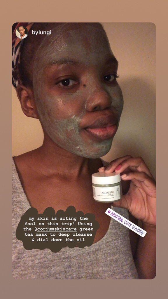 Corium green tea clay mask