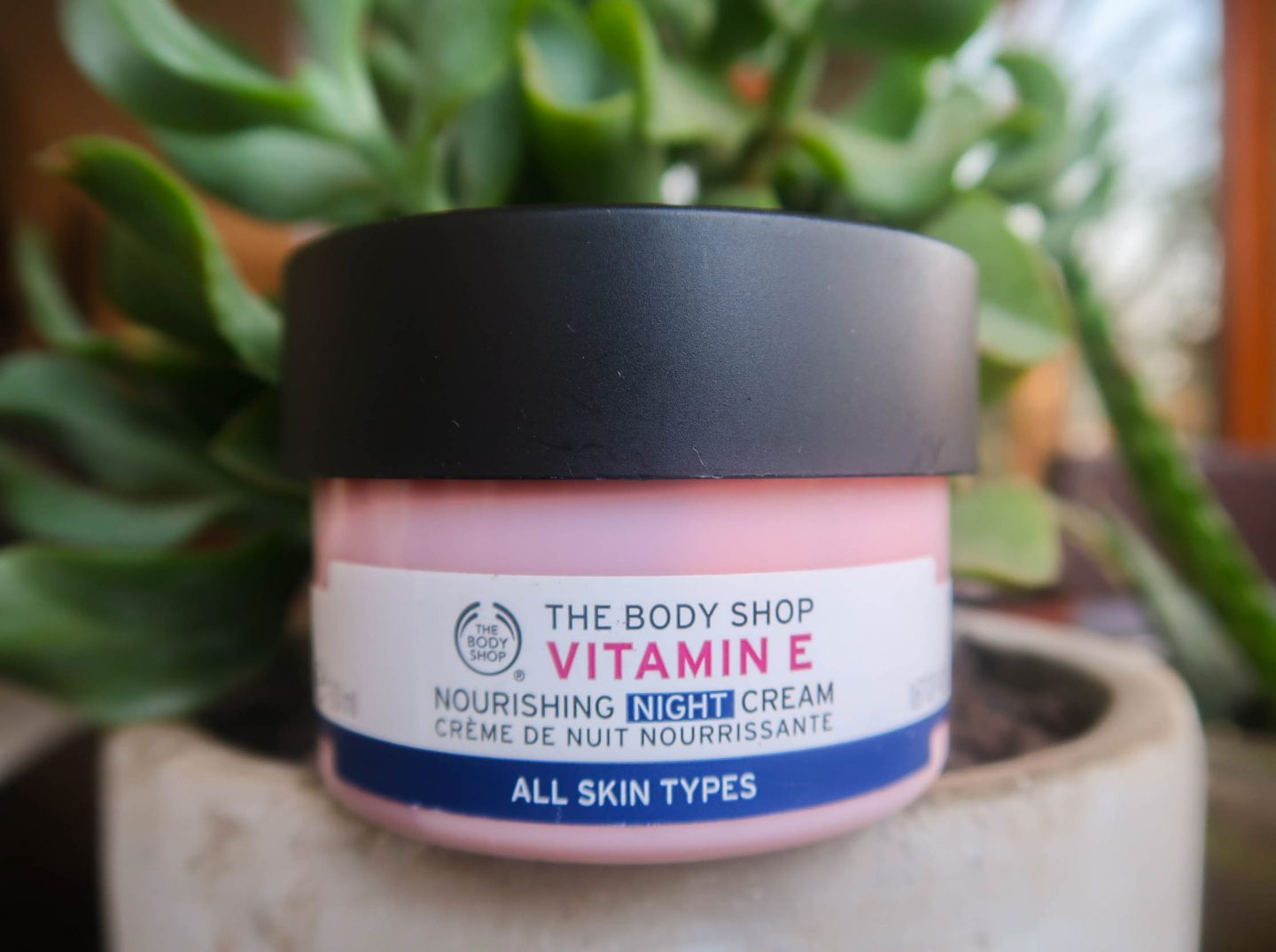 review // vitamin E night cream from The Body Shop