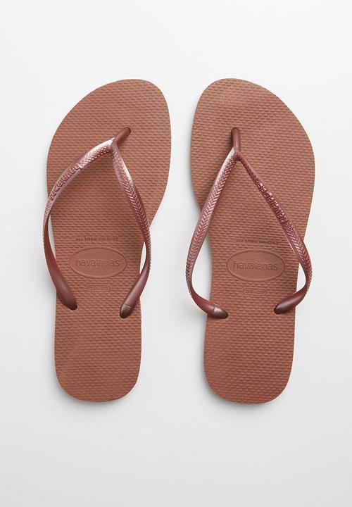 nude flip flops