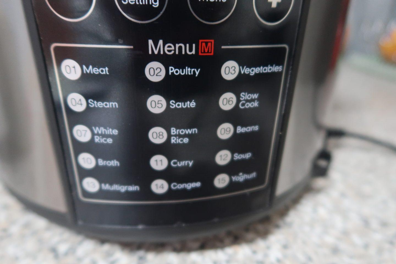 Rusell Hobbs Pressure Cooker functions