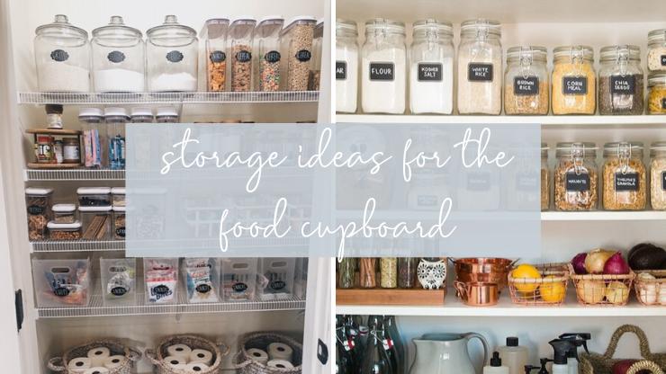 food cupboard storage ideas