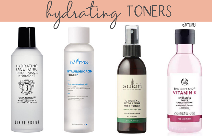 Hydrating toners options
