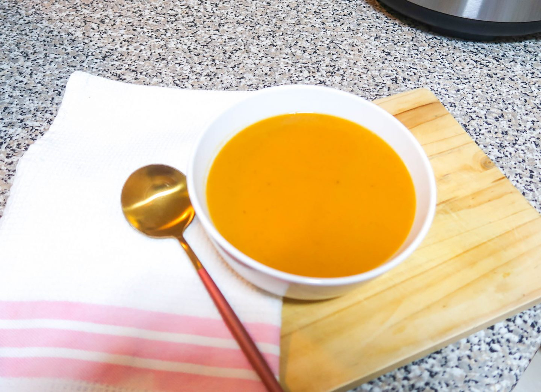 Winter warmer veggie soup