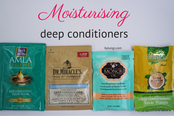 Moisturising deep conditioners for natural hair