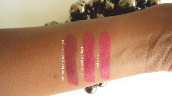 essence merry berry swatches