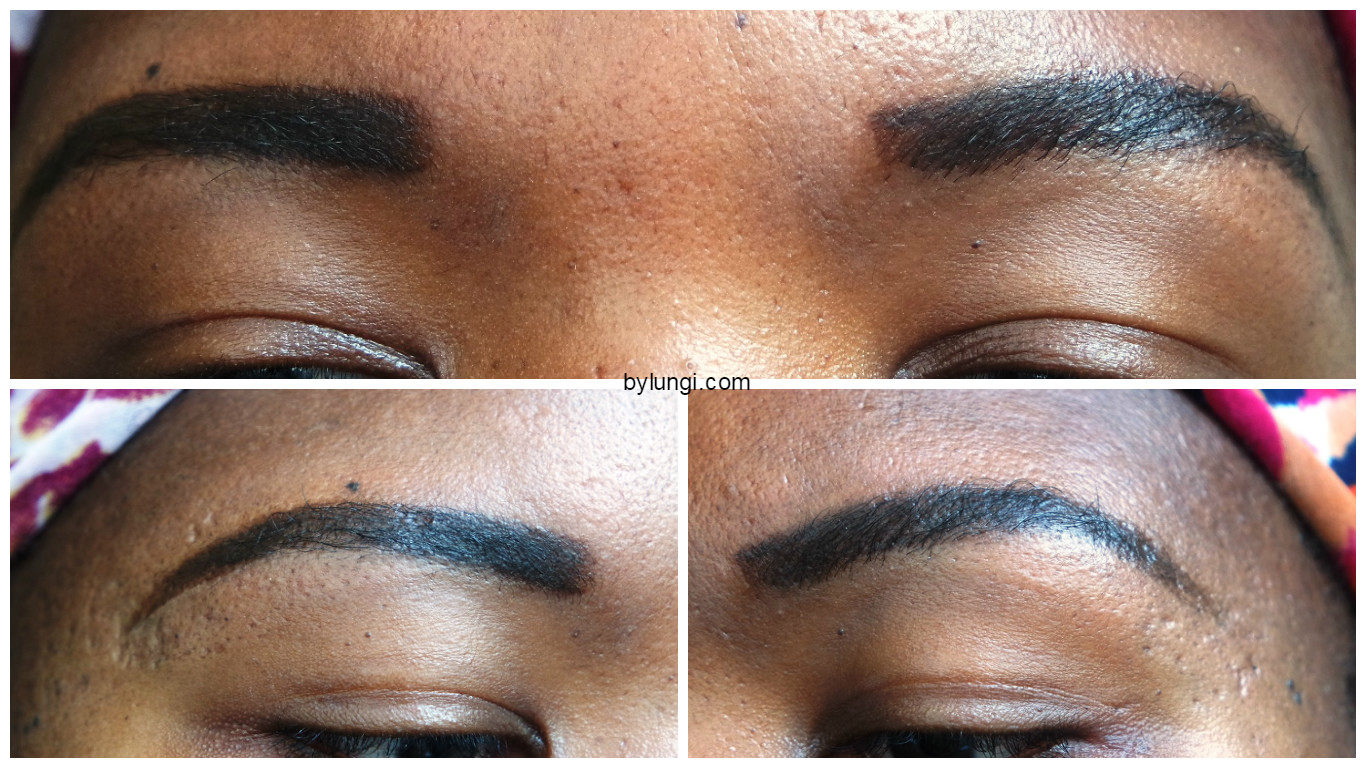 Shaping eyebrows using an eyebrow stencil - Final eyebrows look