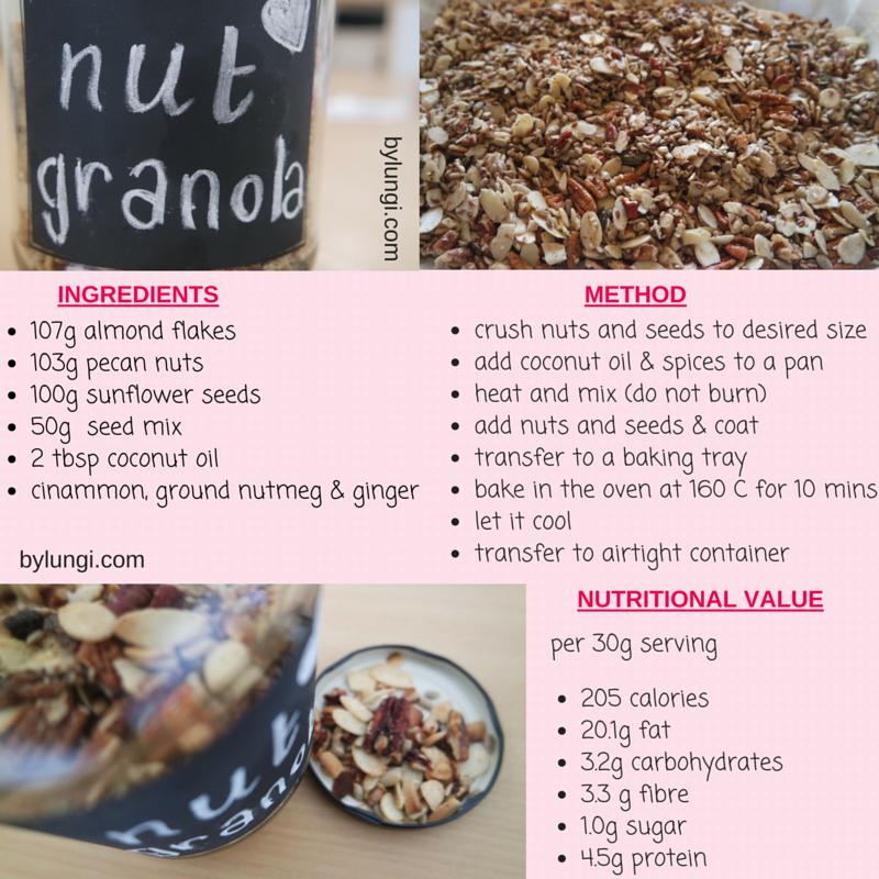 Low carb, real food Nut granola recipe