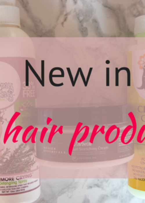 new in // hair products