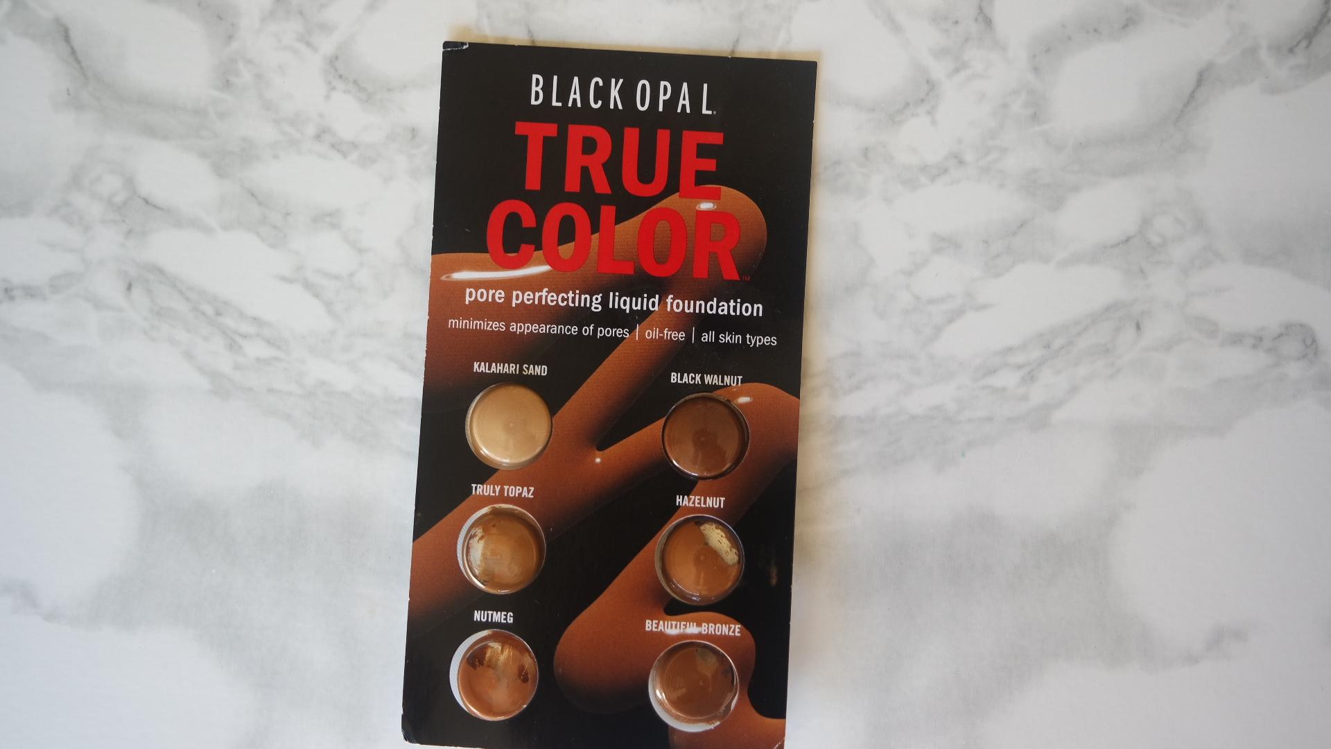 Black Opal True Color Pore Perfecting Liquid Foundation Swatches