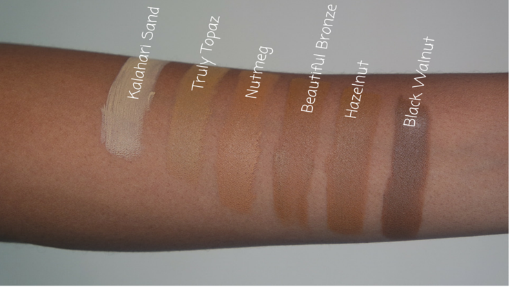 Black Opal True Color Pore Perfecting Liquid Foundation swatches