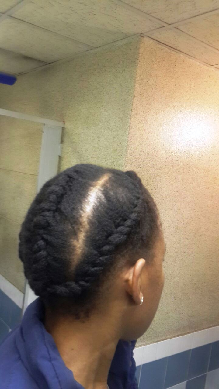 flat twists on 4c hair south african hair blogger