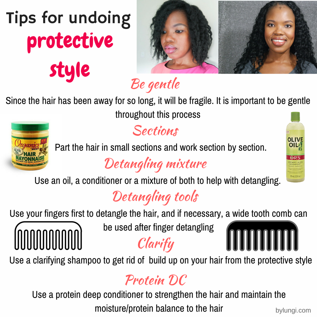 Tips for taking down a protective style