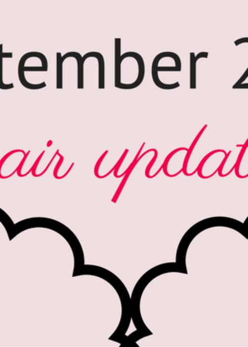 hair update // september 2016