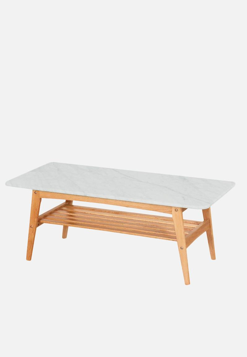 Oia marble rectangular coffee table