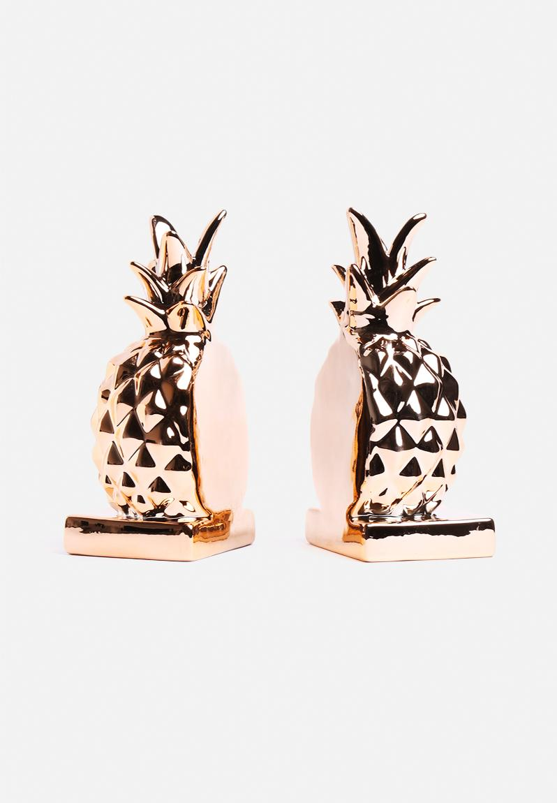 Pineapple Bookend Set of 2