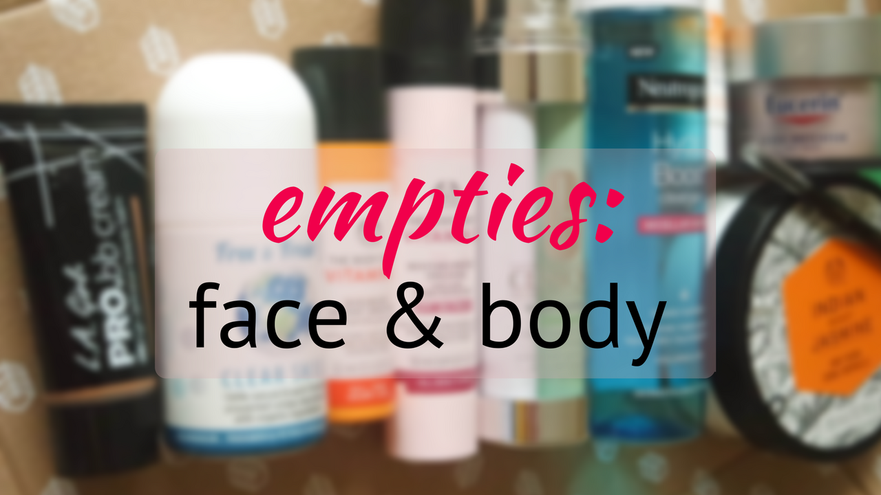 face and body empties