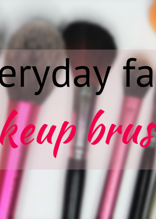 Makeup brushes for the everyday face