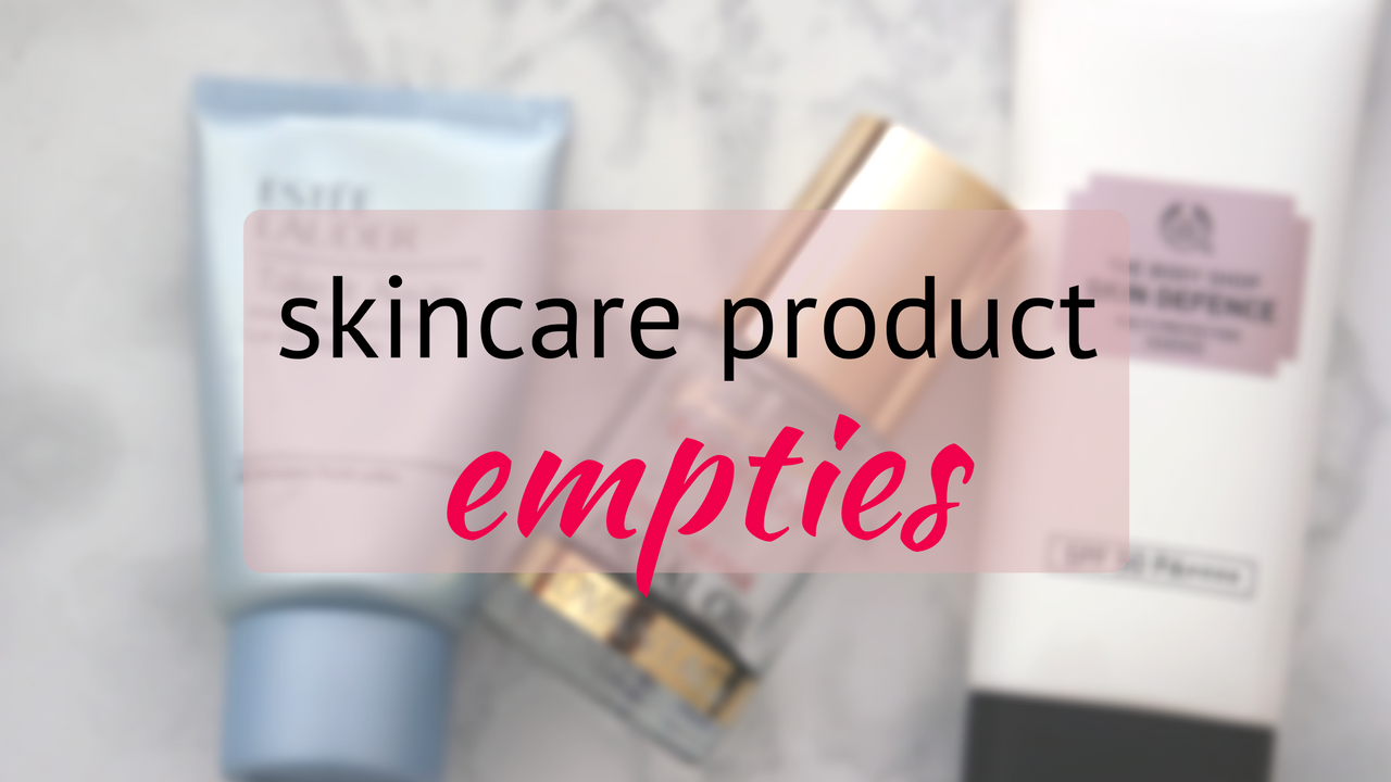 Skincare product empties