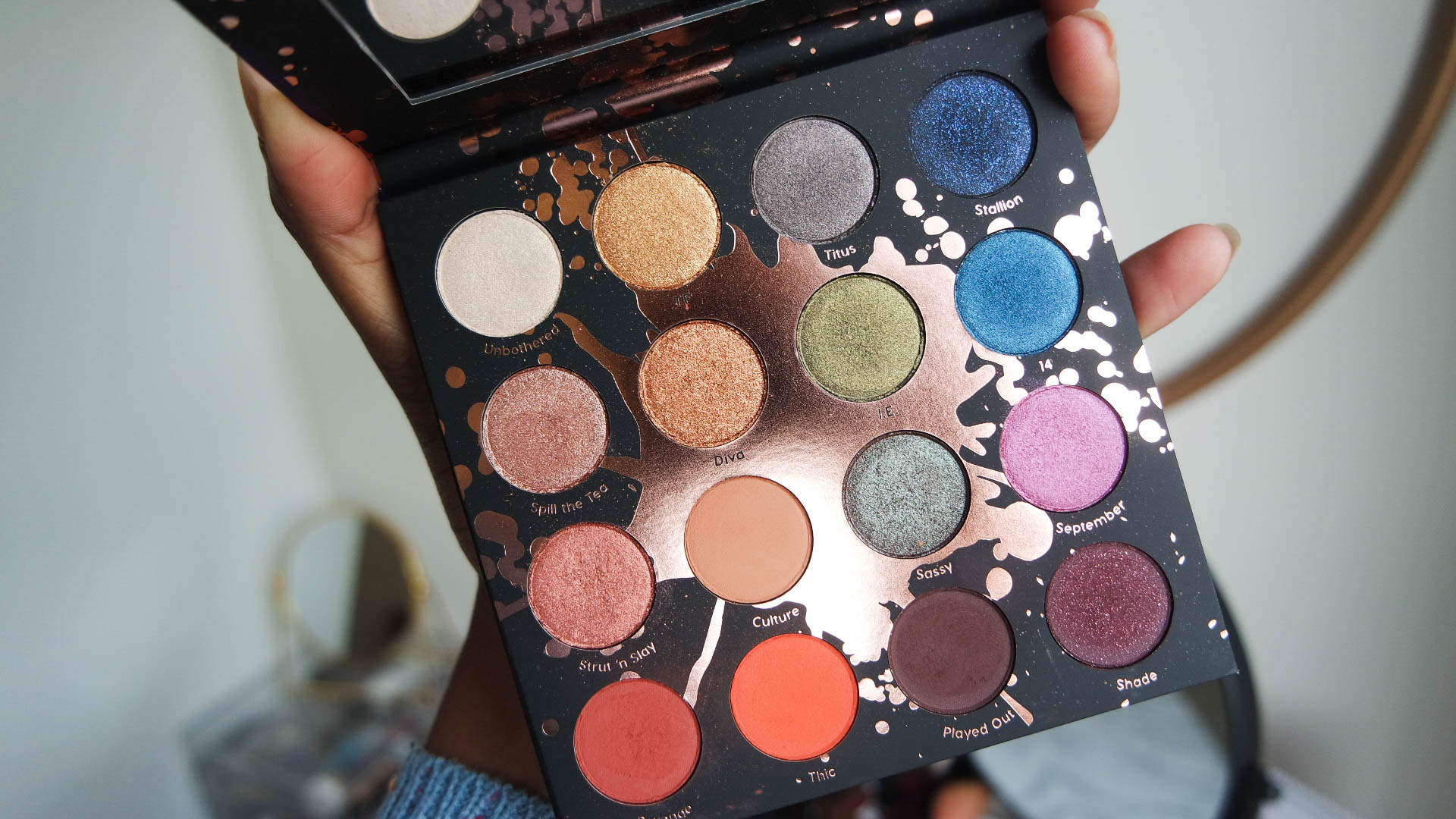 Shayla x Colourpop Perception eyeshadow palette