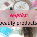 beauty product empties