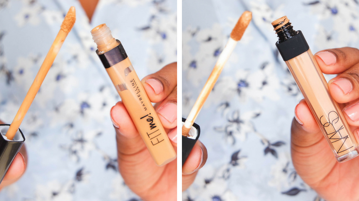 maybelline fit me & nars radiant creamy