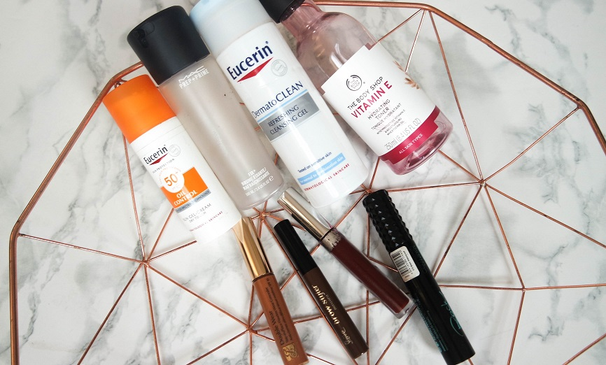 Collective empties makeup and skincare products