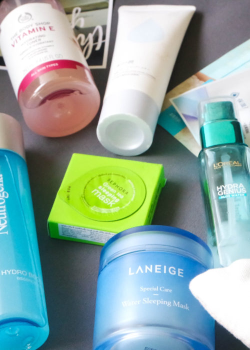 hydration station… my favourite hydrating products