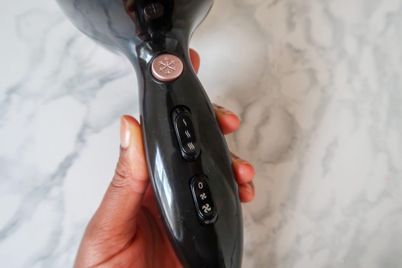 Ebony By Carmen Power Comb Hairdryer